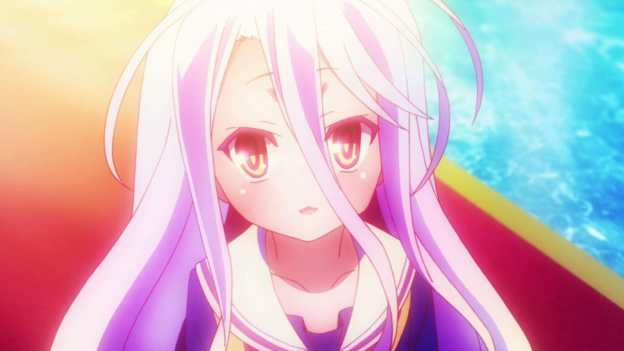 13. Shiro del anime No Game No Life