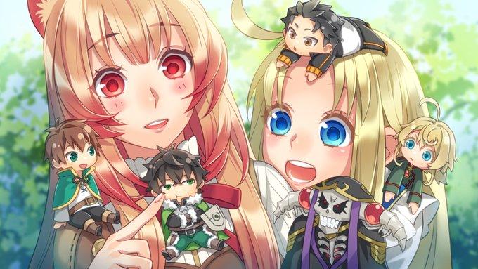 Isekai Quartet celebra el estreno de la segunda temporada con una ilustracion de Tate no Yuusha