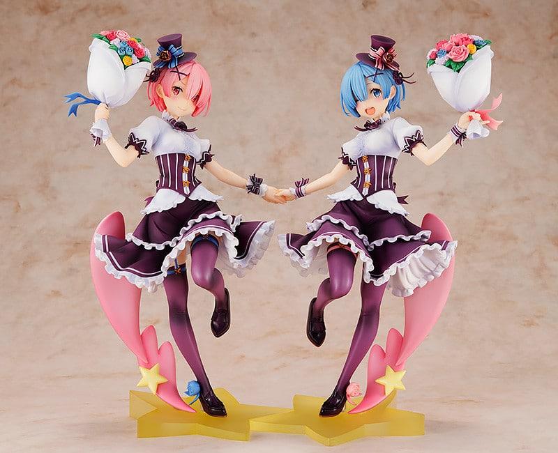 Ram y Rem de Re:Zero celebran su cumpleaños con un set de figuras a escala