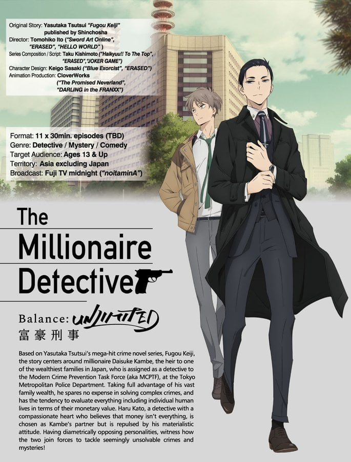 El anime Fugou Keiji Balance: Unlimited tendrá 11 episodios