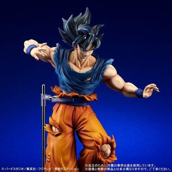 """Dragon Ball: Goku nos muestra su transformación Miggate no Gokui """"Kizashi"""" en una figura a escala"""