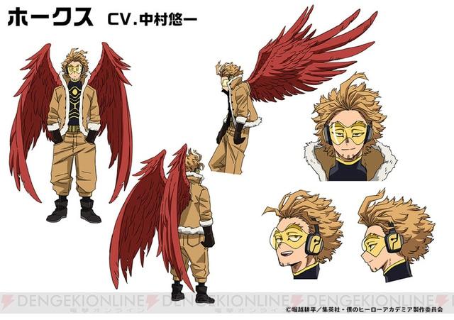 La cuarta temporada de Boku no Hero Academia nos muestra el diseño del personaje Hawks