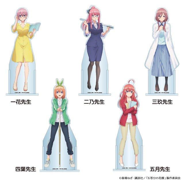 Las quintillizas de Go-Toubun no Hanayome estrenan figuras de tamaño real y más sorpresas