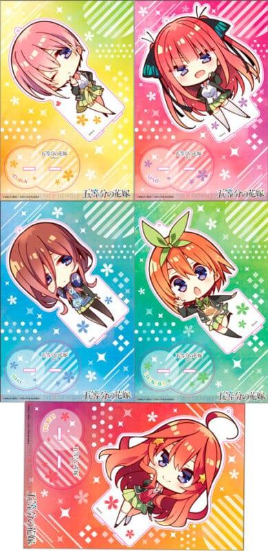 Go-Toubun no Hanayome lanza productos con ilustraciones chibi de las quintillizas