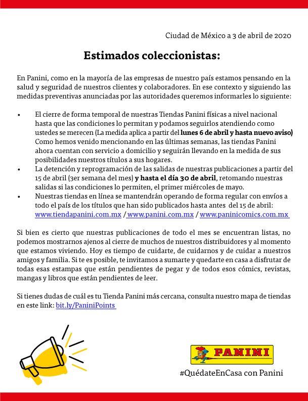 Panini Manga México revela un comunicado importante