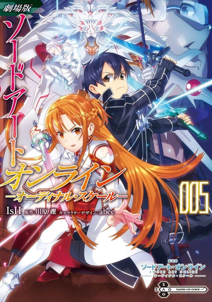 El manga Sword Art Online: Ordinal Scale revela la portada del quinto volumen