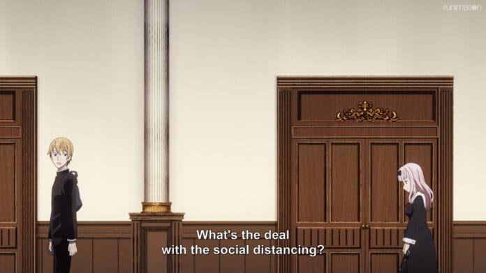 Funimation modificó los subtítulos de Kaguya-sama: Love is War para incluir mensajes de distanciamiento social