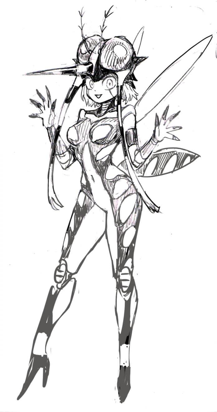 El ilustrador de One Punch Man revive a Mosquito Girl en una ilustración