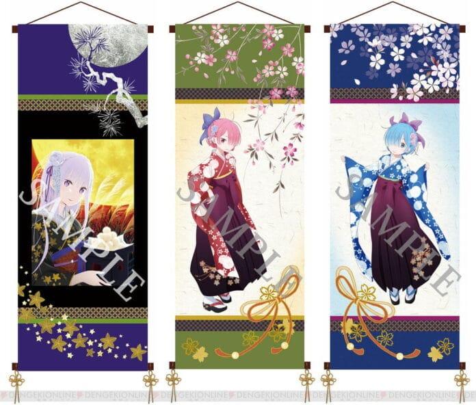 Re:Zero - Emilia, Ram y Rem visten encantadores kimonos para nuevos productos
