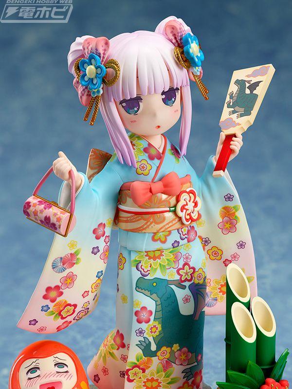 Kanna Kamui viste un kimono en una figura a escala