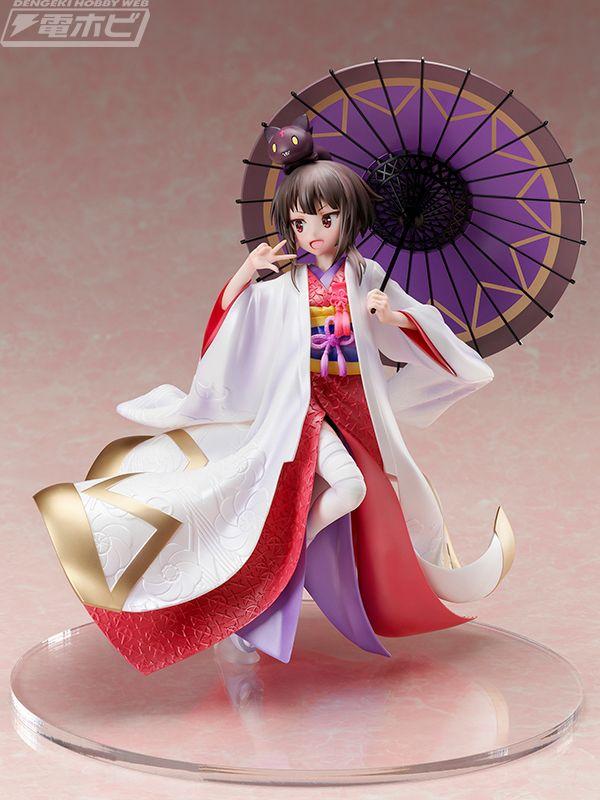 Konosuba: Megumin luce un vestido de novia tradicional japonés en una nueva figura a escala
