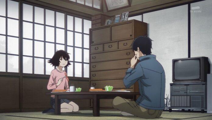 Haru y Rikuo desayunando Reseña | Yesterday wo Utatte Episodio 11