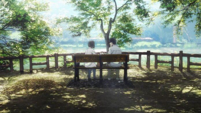 Yesterday wo Utatte Shinako y Rikuo en el parque