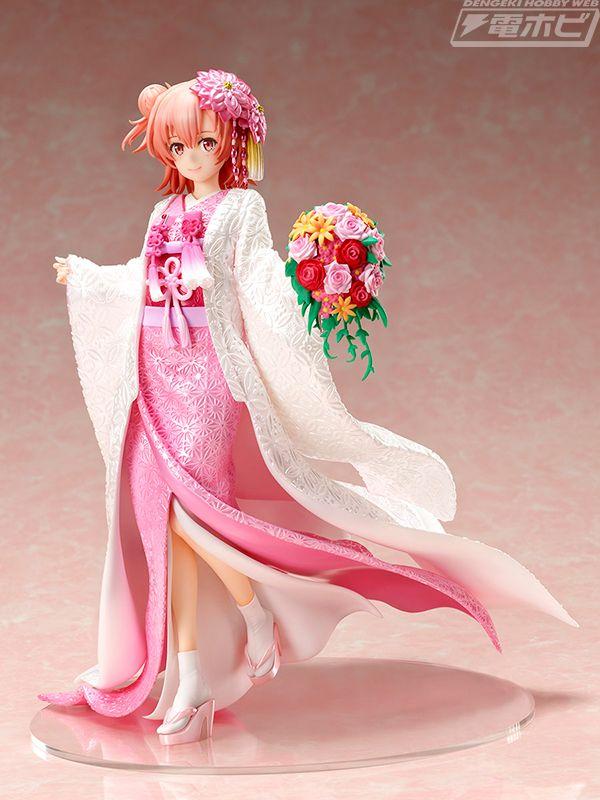 Oregairu: Yui luce un hermoso vestido de novia tradicional japonés en una nueva figura a escala