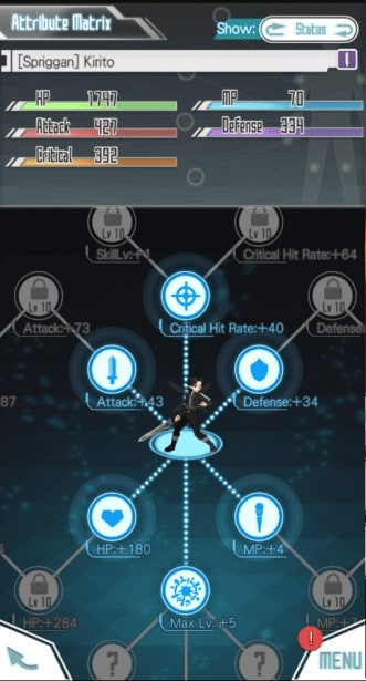 sword art online memory defrag habilidades