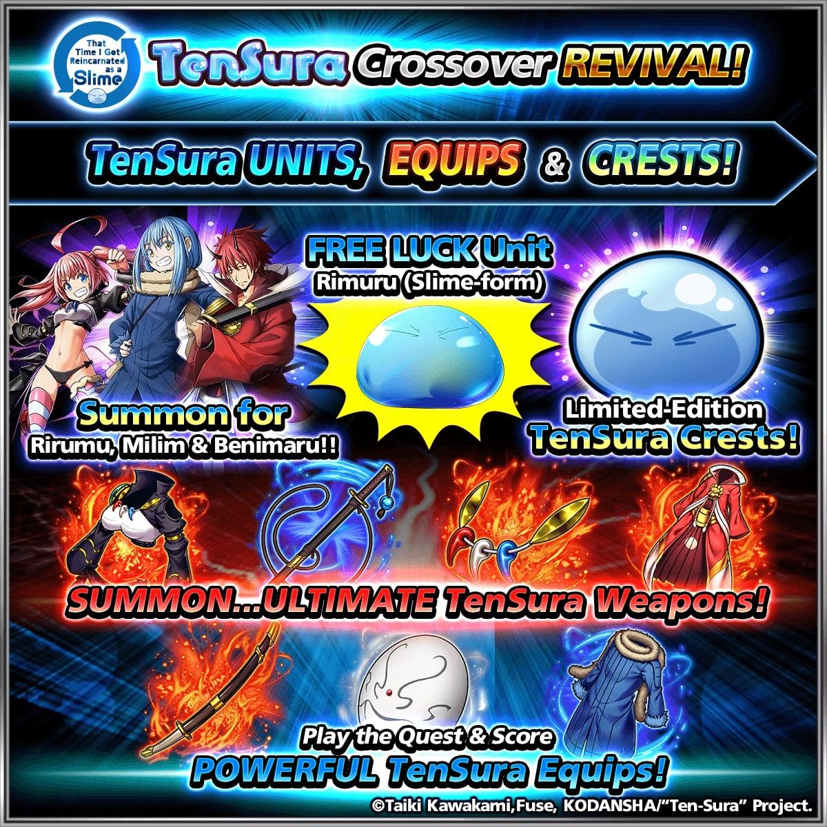 items Grand Summoners x Tensei Shitara
