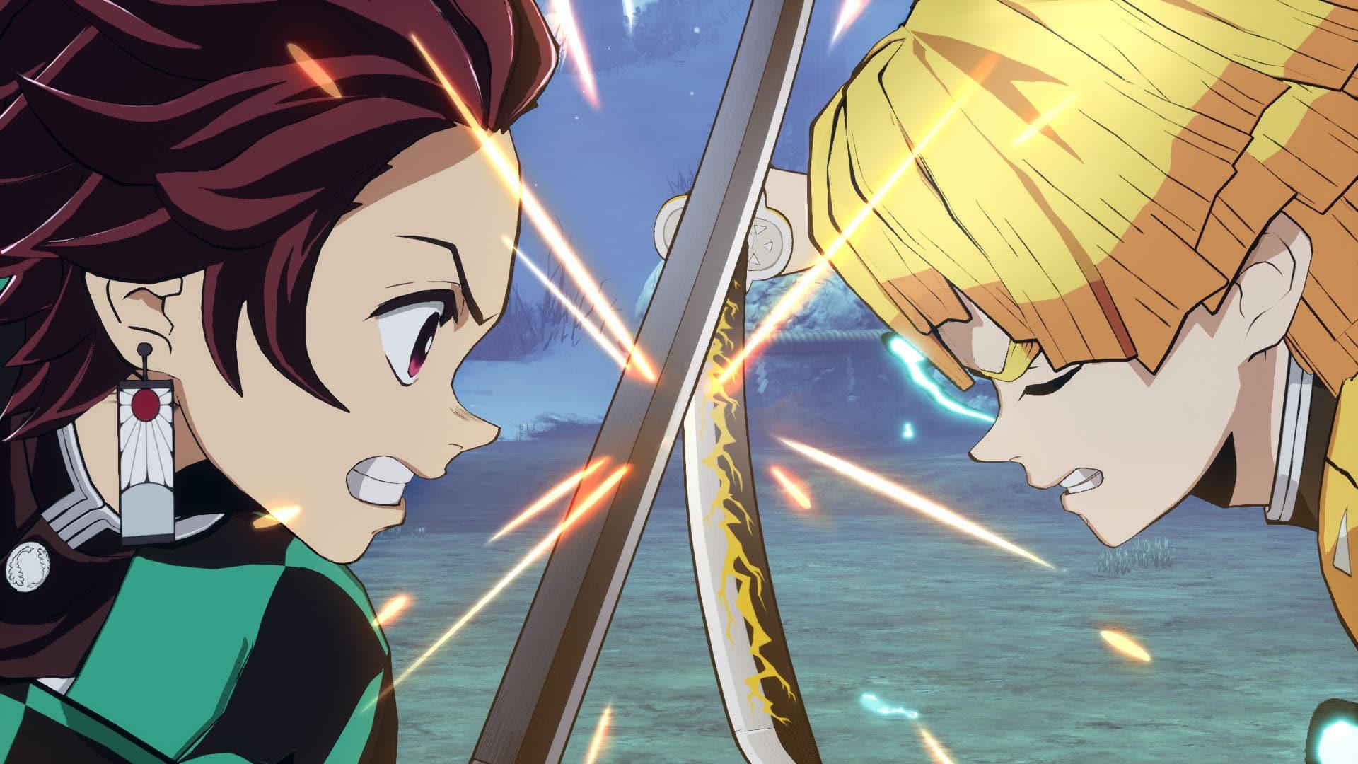 Tanjiro vs Zenitsu Captura del juego