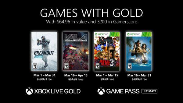 Xbox Live Gold Marzo 2021